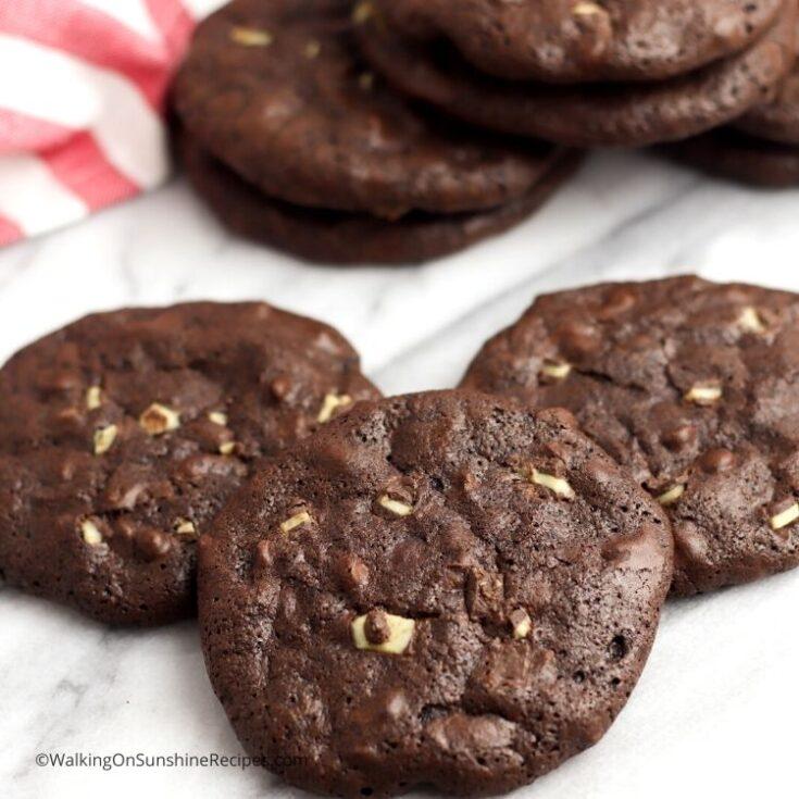 Brownie Mix Mint Chip Cookies