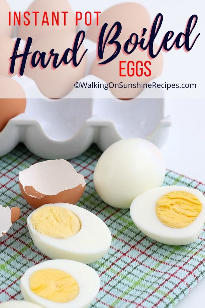 peeled hard boiled eggs made in the instant pot.