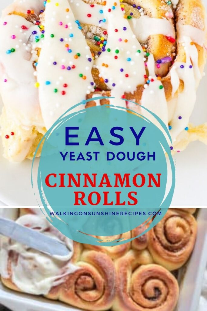 easy yeast dough cinnamon rolls