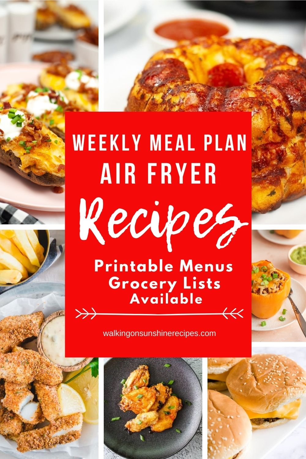 7 Air fryer recipes for a weekly meal plan.