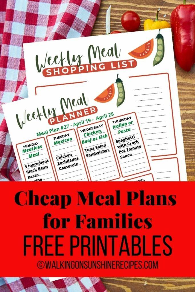 weekly meal plan menu.