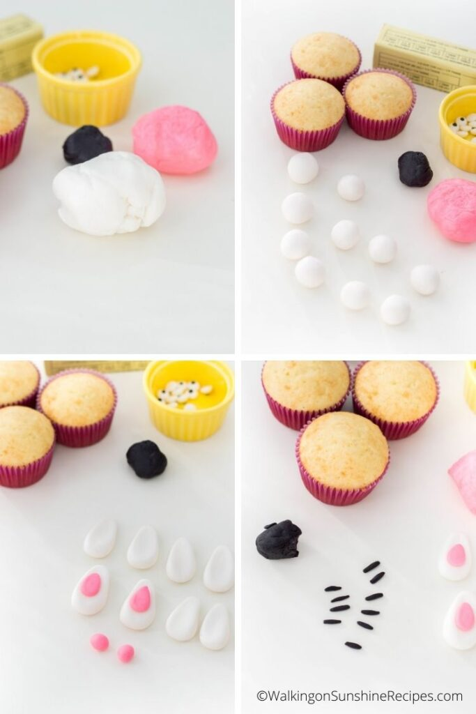 how to use fondant to decorate cupcakes.