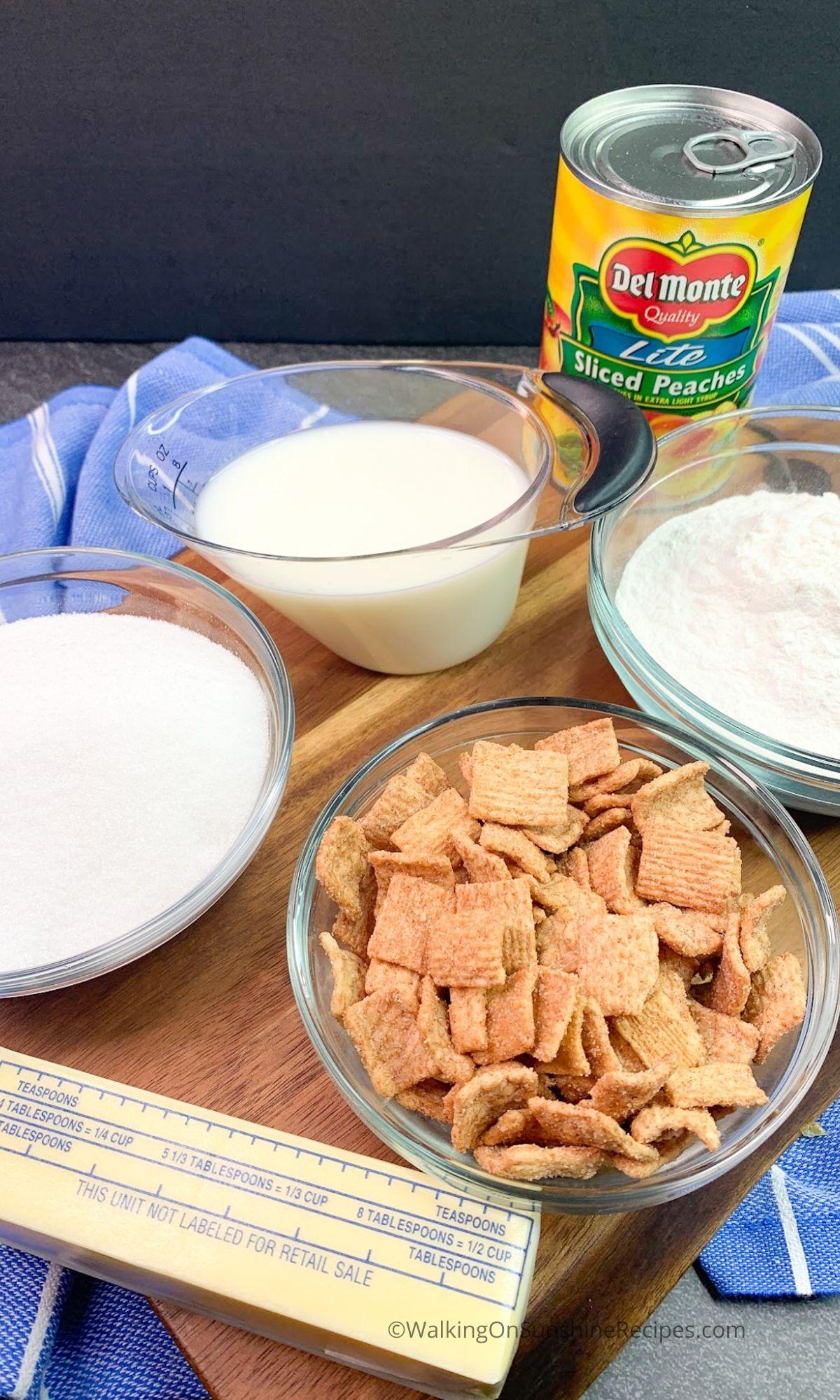Peach Cobbler Ingredients.
