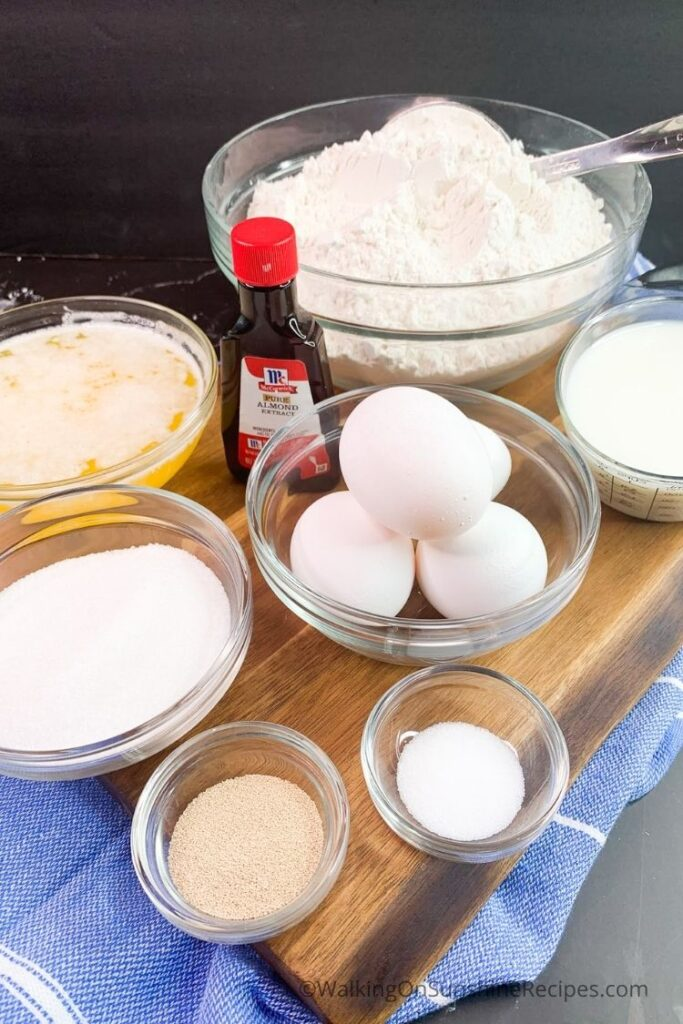Ingredients for Traditional Easter Bread.