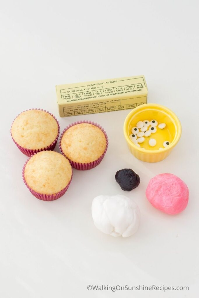 Ingredients for cupcakes.