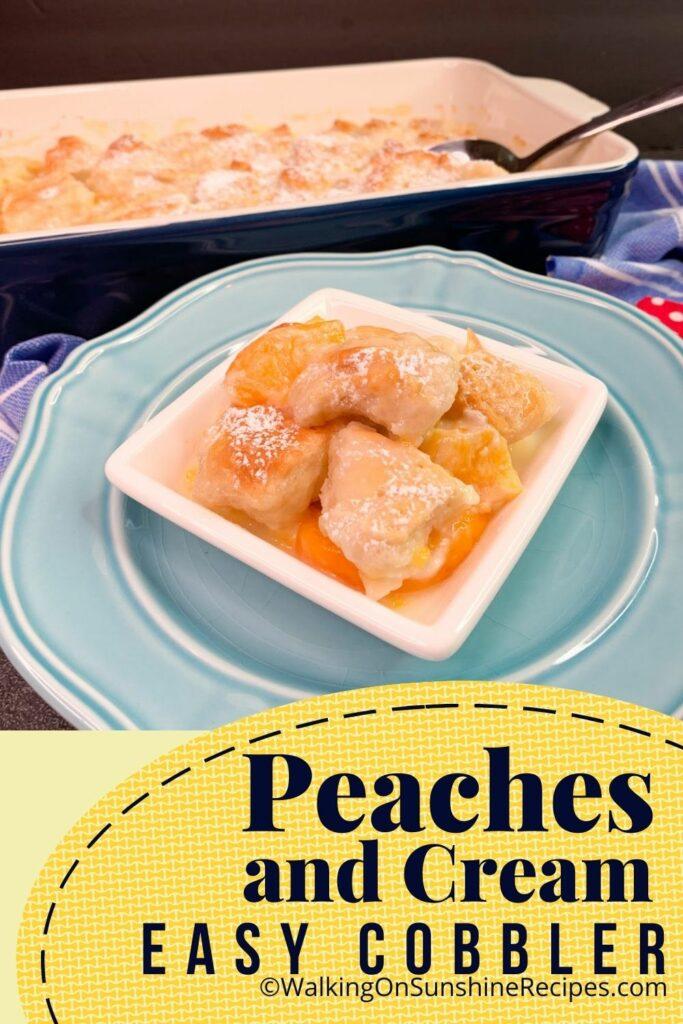 peach cobbler rolls.