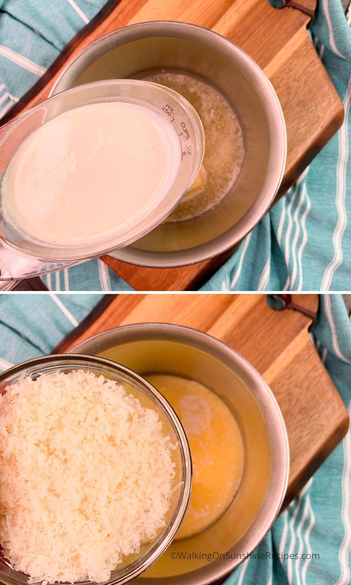 Ten Minute Cream Alfredo Sauce.