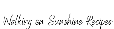 Walking On Sunshine Recipes logo