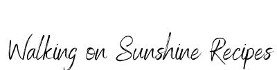 Walking On Sunshine Recipes logo