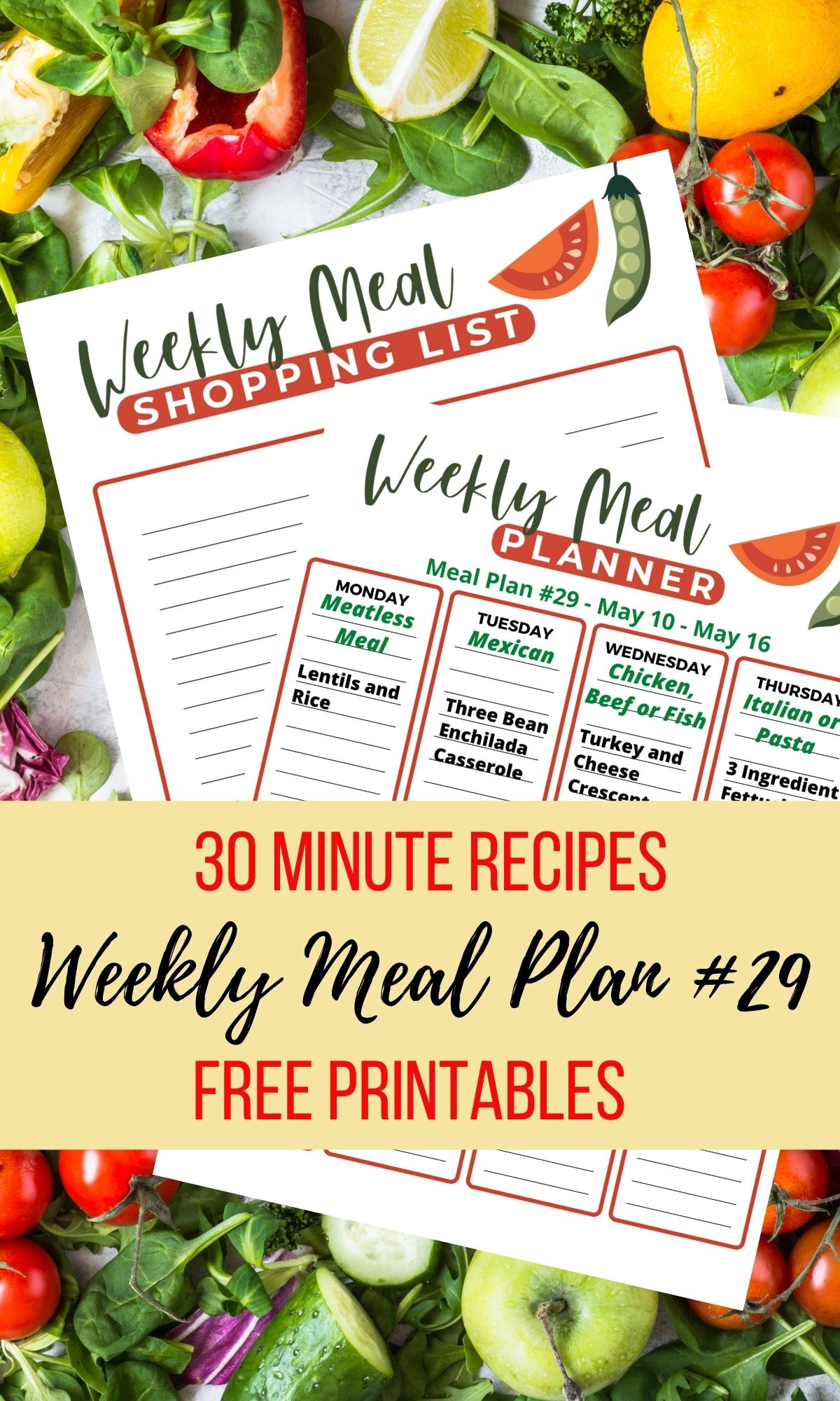 30 minute meals to help with dinner this week.