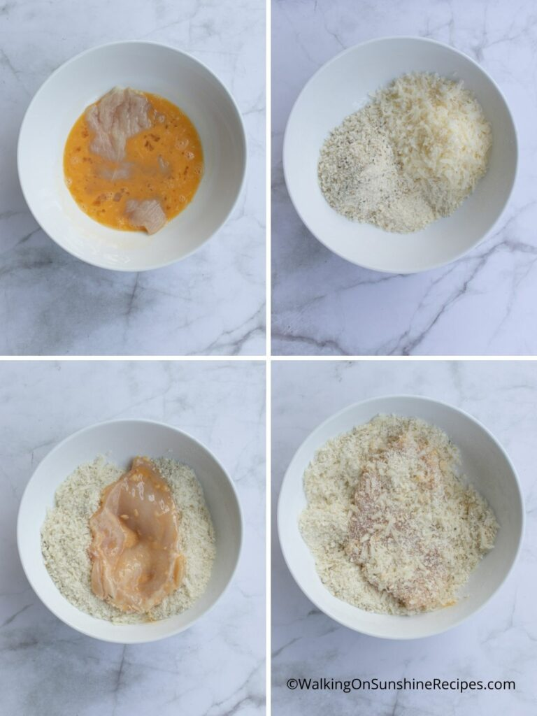 how to bread chicken cutlets for frying.