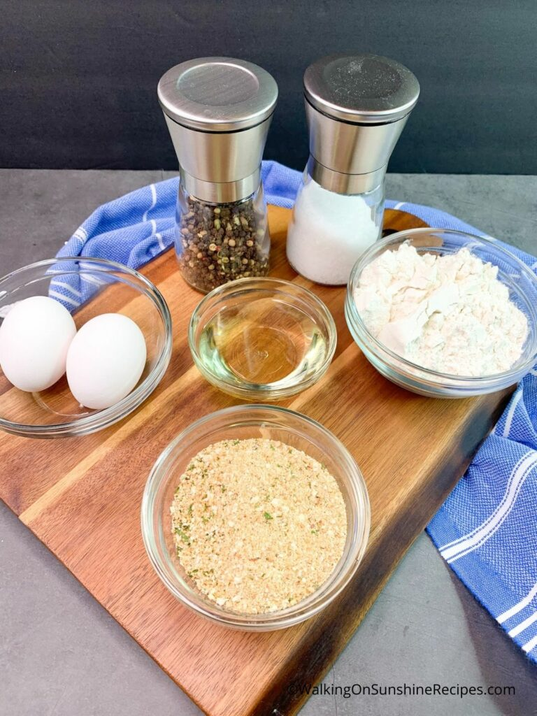 Ingredients for Breaded Chicken Cutlets