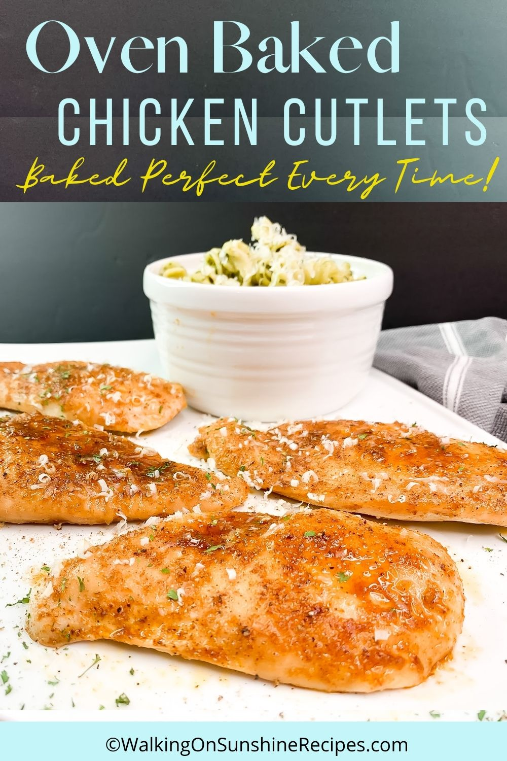 chicken cutlets baked.