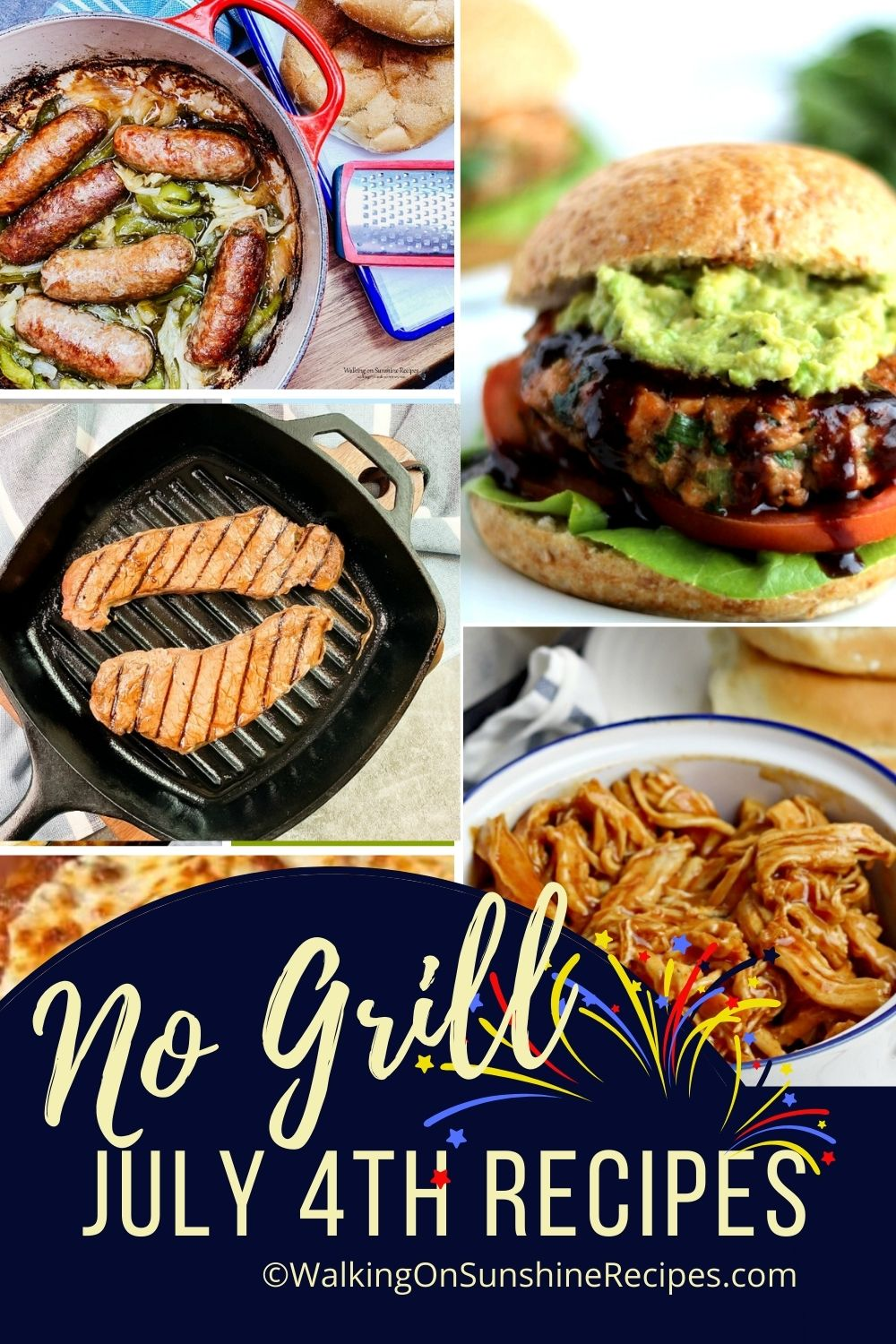 no grill recipes for July 4th.
