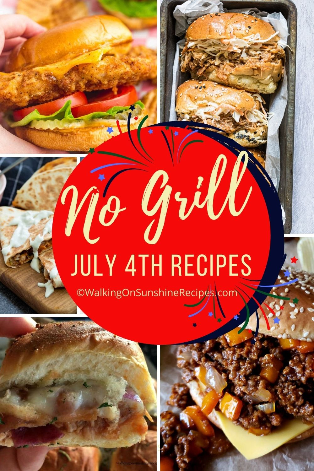 recipes for July 4th that don't require a barbecue grill.