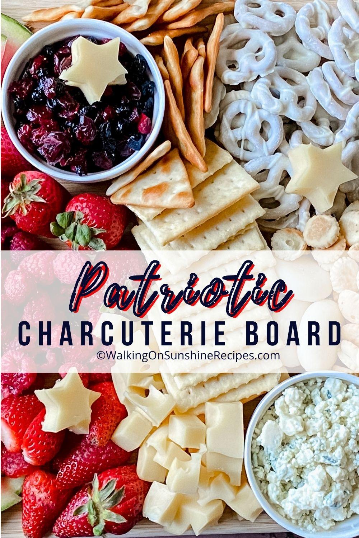 Patriotic Charcuterie Board Pin