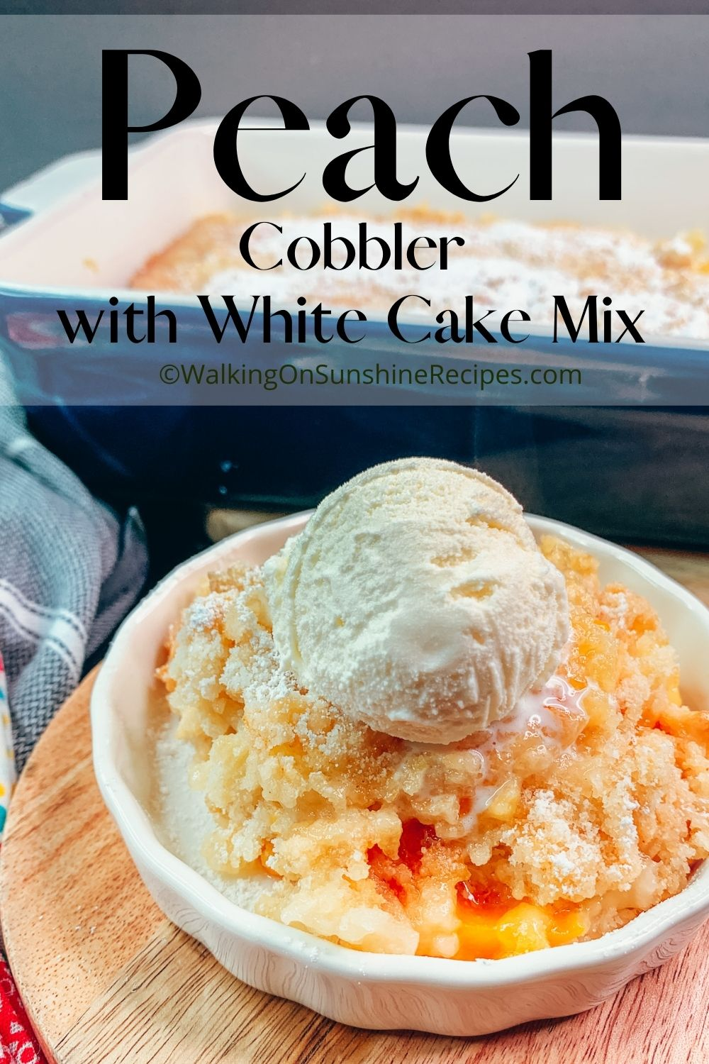 Peach Cobbler with White Cake Mix Pin 2