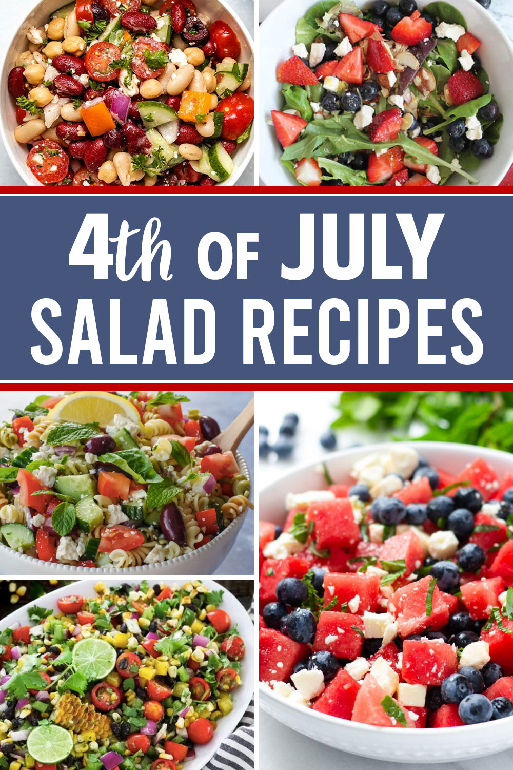 20 delicious salad recipes perfect for 4th of July.