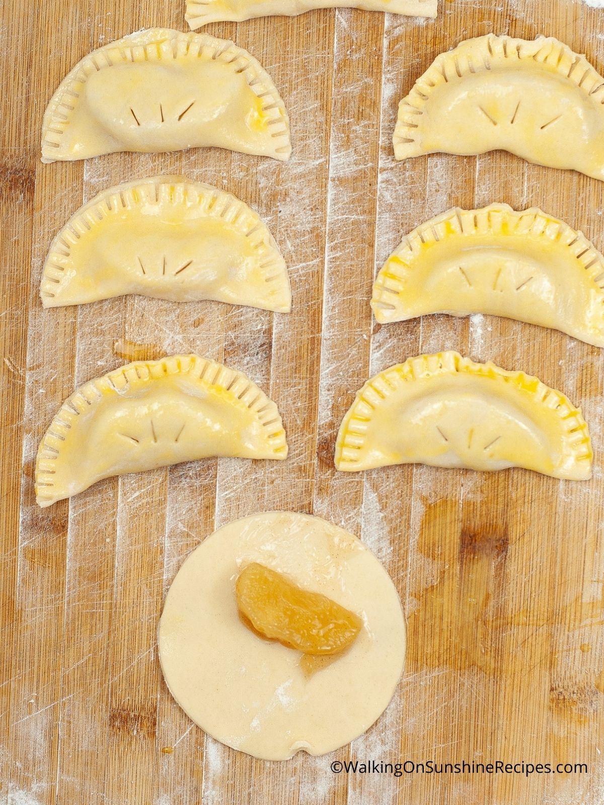 1200X1600 Air Fryer Apple Hand Pies before baking  Process Photos