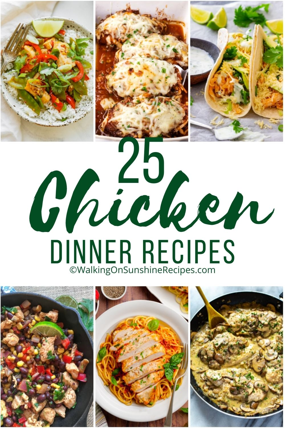 easy to make chicken recipes for dinner.