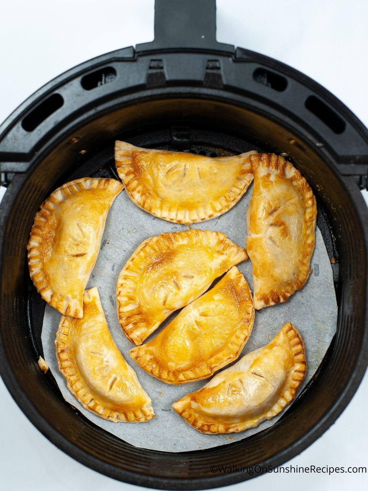 Baked Apple Hand Pies in Air Fryer.
