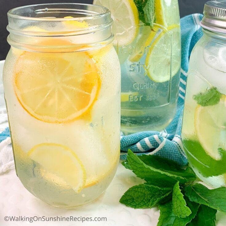 Lemon Mint Sparkling Water