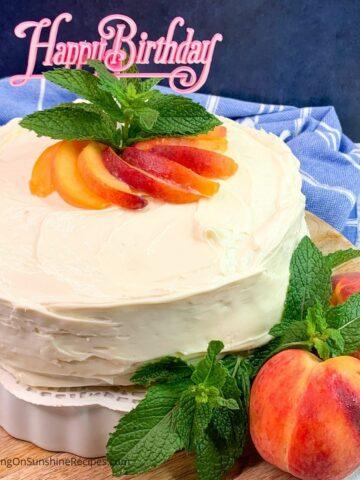 canned peach cake recipe.