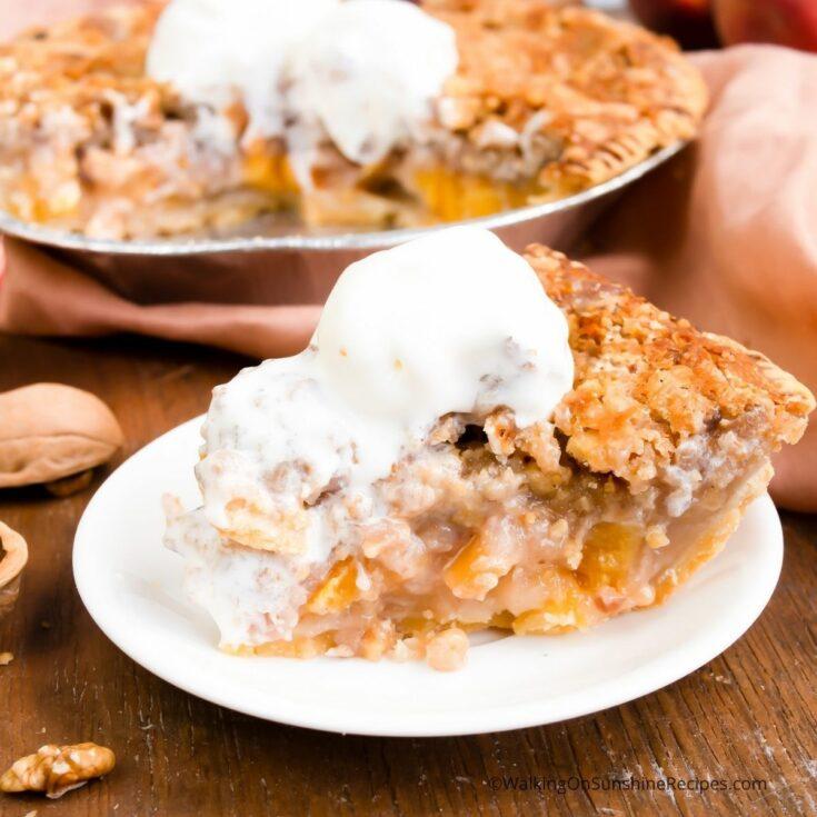 Peach Walnut Pie Recipe