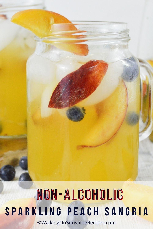 Non-Alcoholic Sparkling Peach Sangria  pin 8