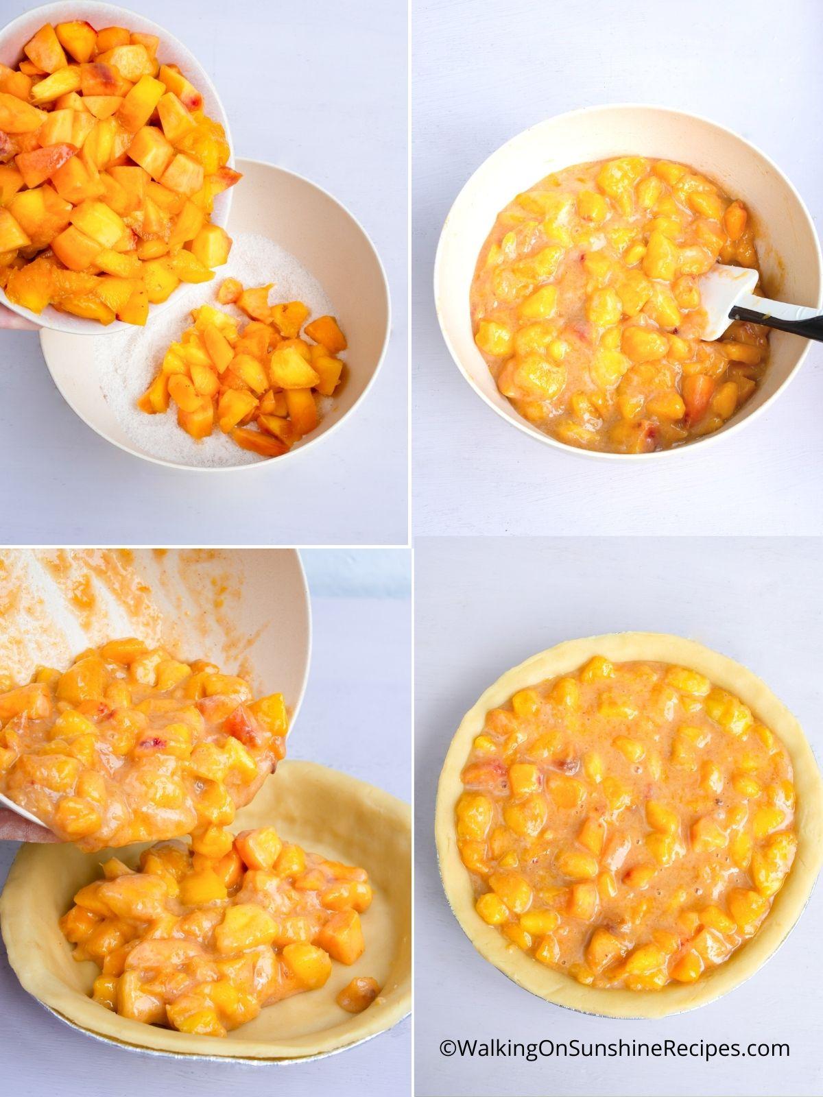 Prepare the peaches.