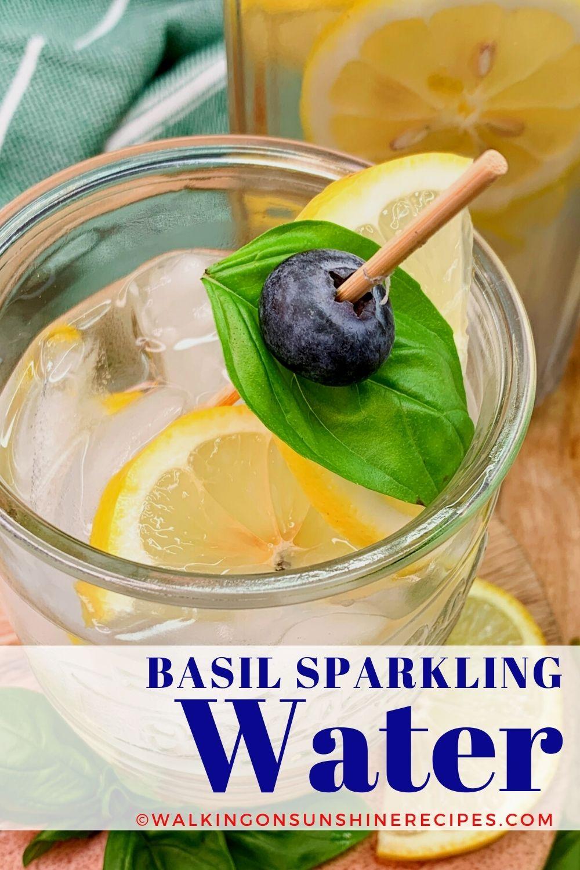 Basil Sparkling Water Pin