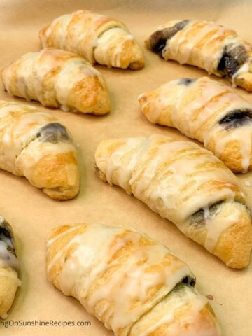 blueberry crescent rolls.