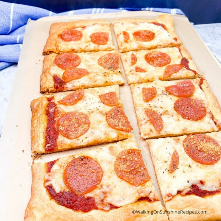 Making Pizza with Crescent Rolls