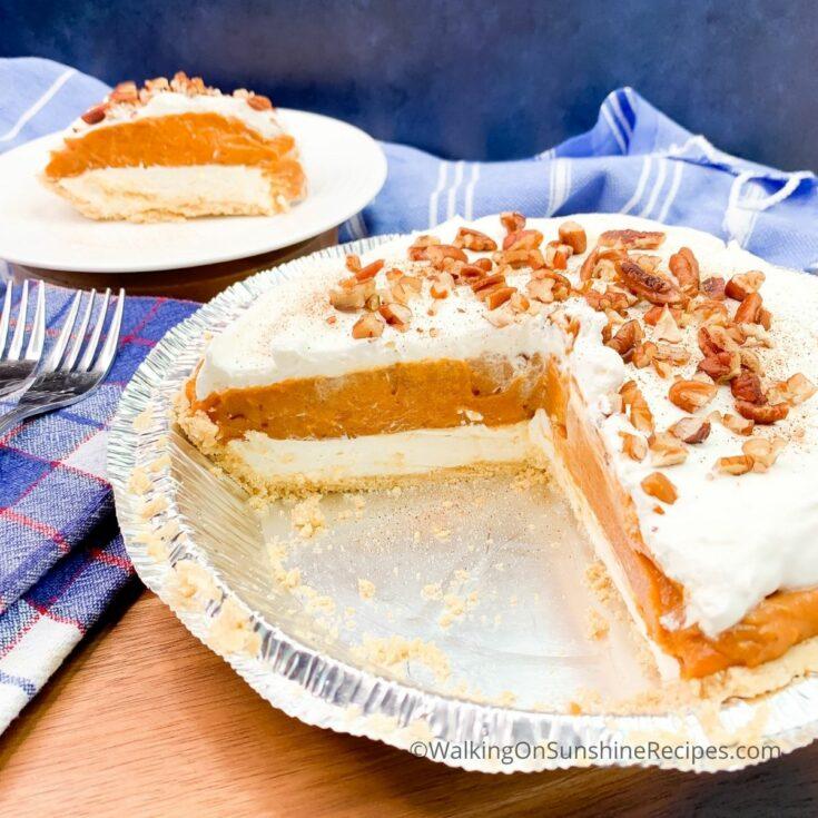 _FEATURED NEW SIZE No Bake Pumpkin Cheesecake Recipe