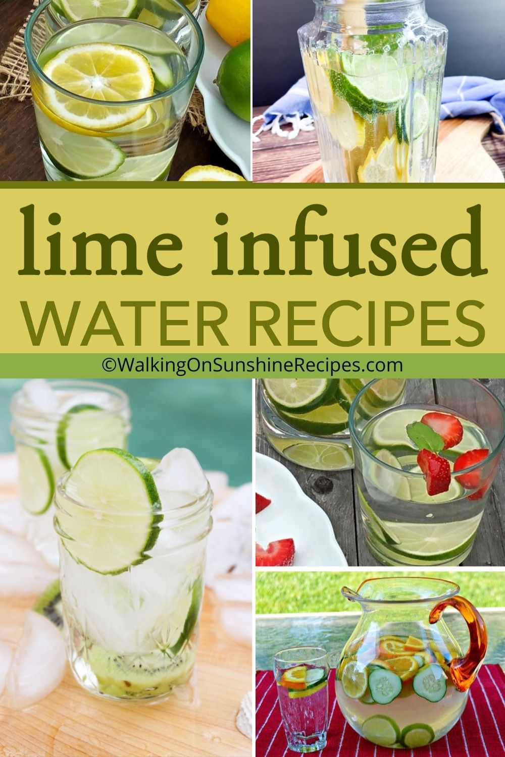 A collection of lime infused water recipes.