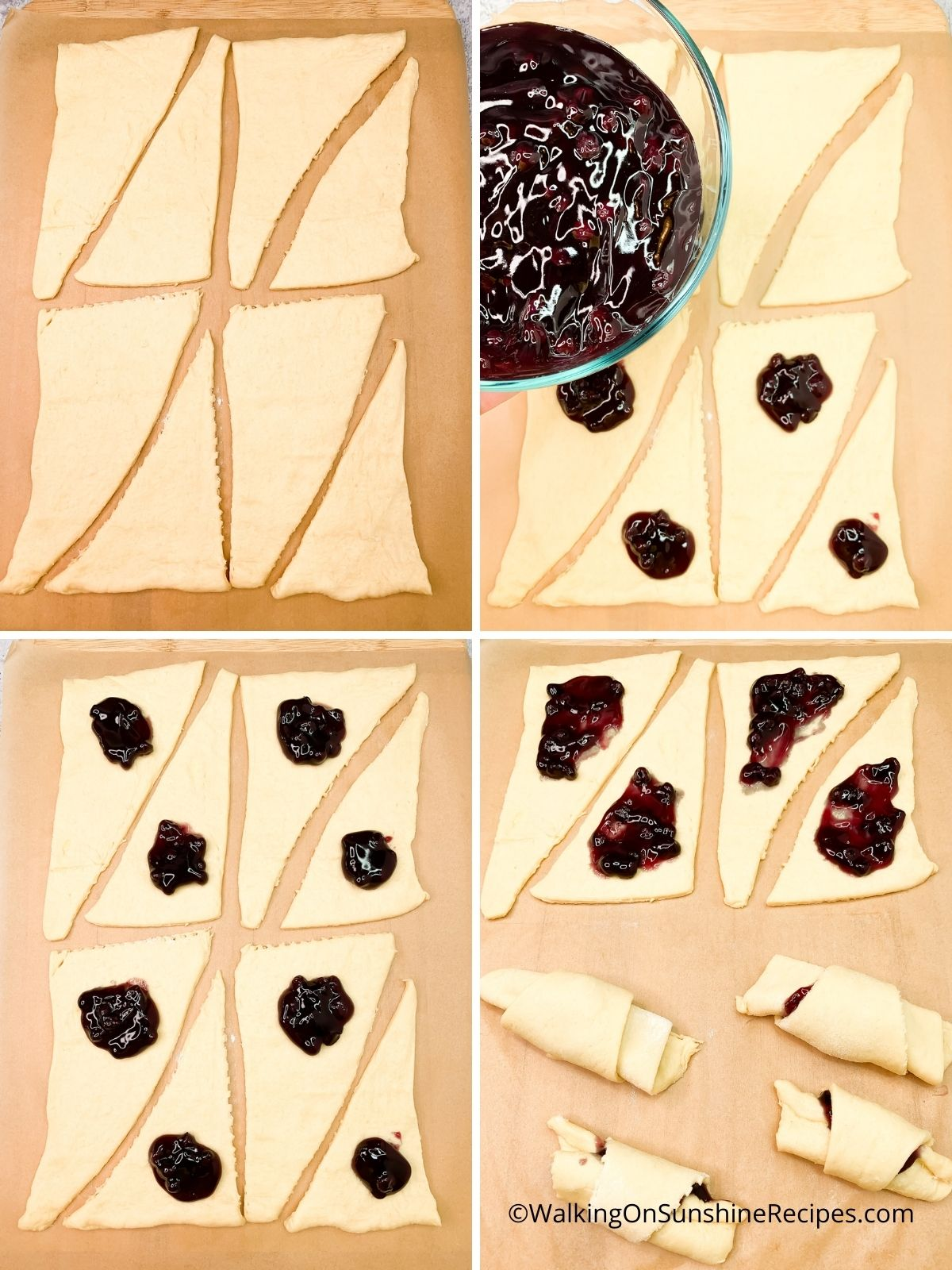 how to unroll crescent rolls.