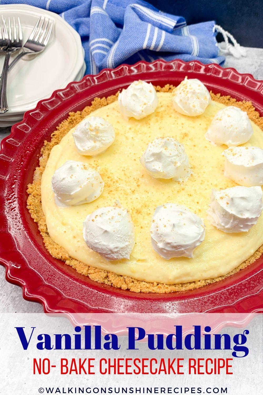 Vanilla Pudding Cheesecake Recipe Pin