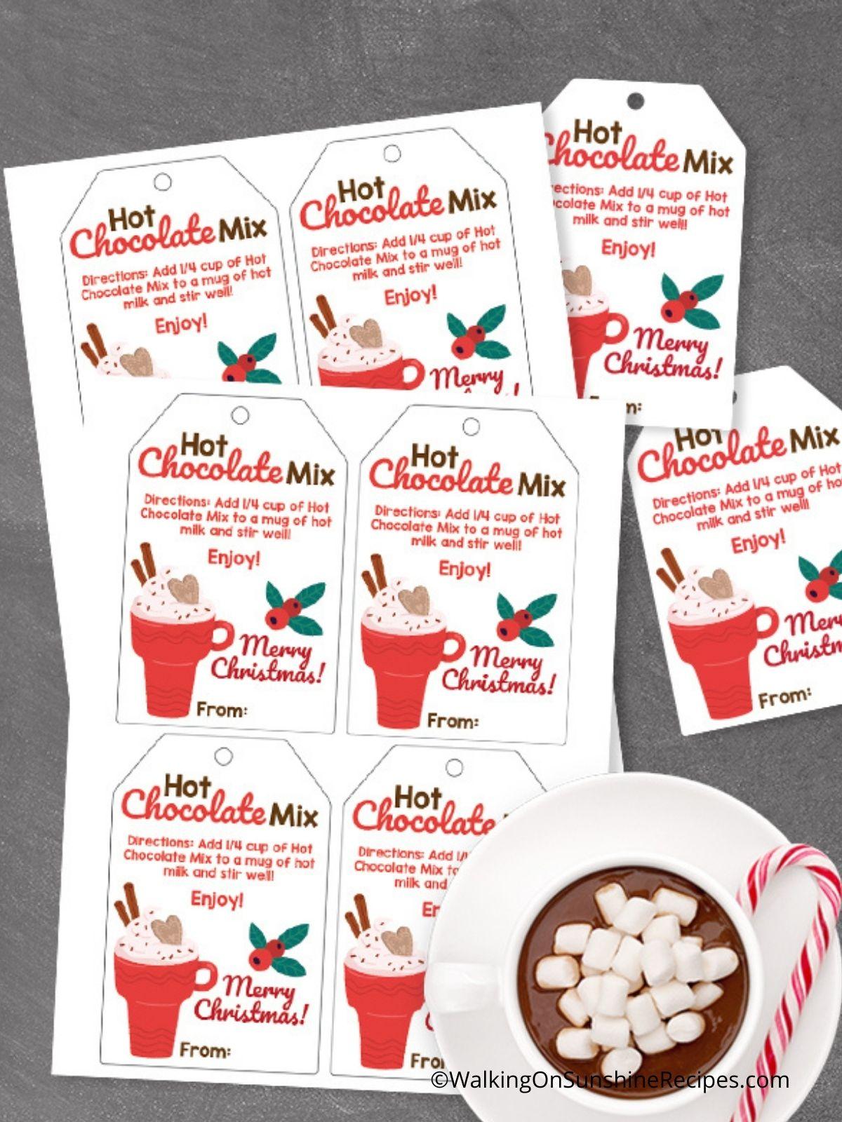 Printable Hot Chocolate Tags.