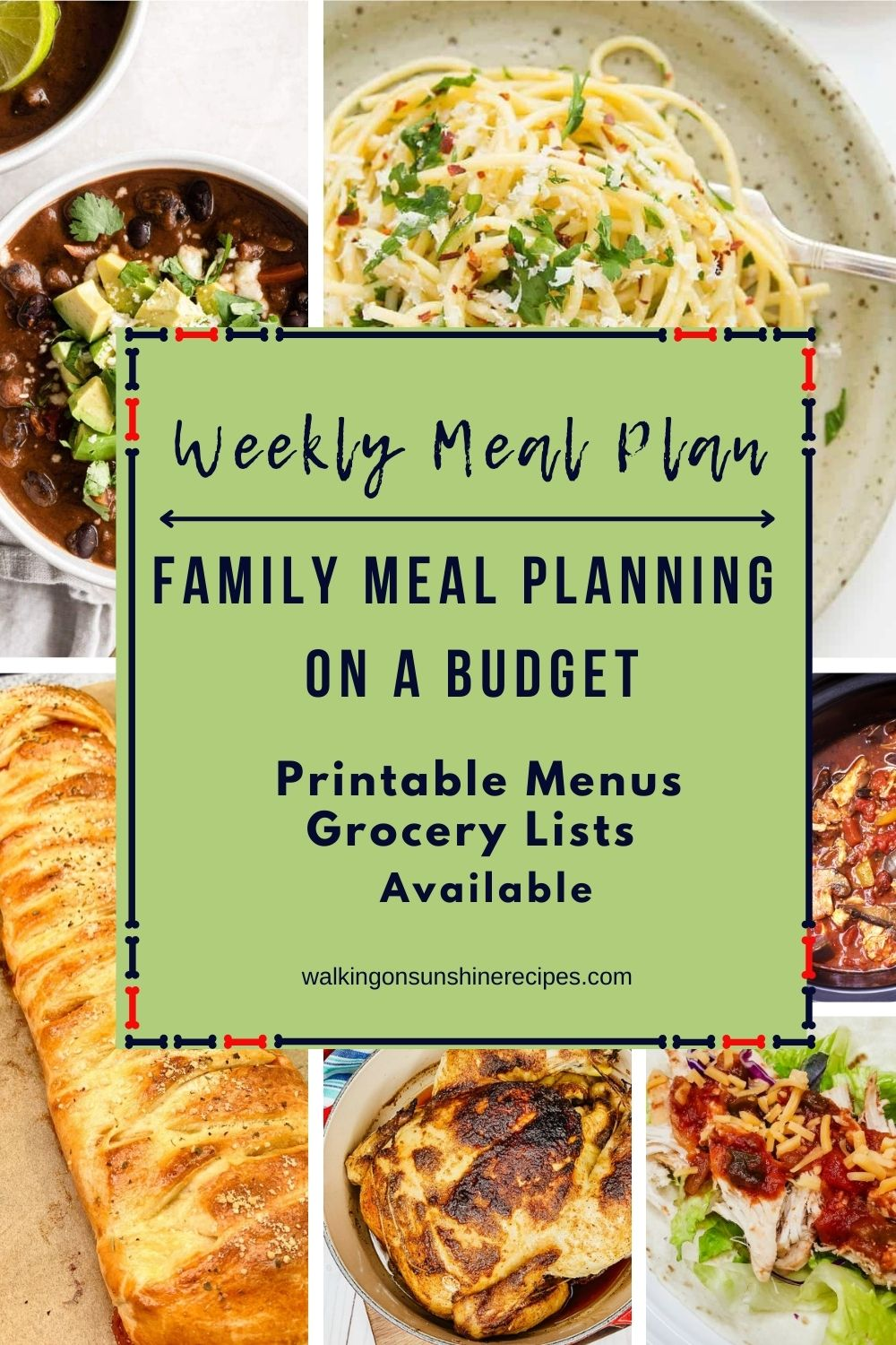 7 recipes with tips for Family Meal Planning on a Budget.