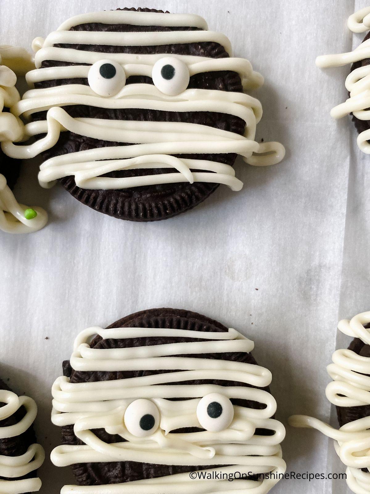 Add candy eyes.