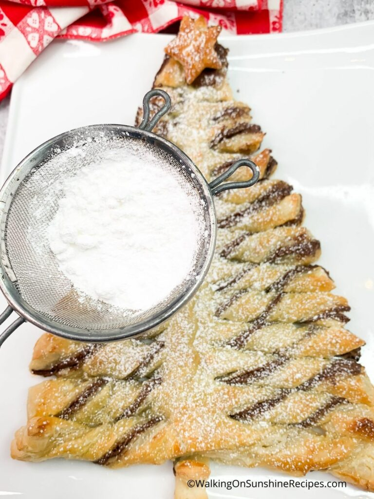 nutella puff pastry xmas tree.