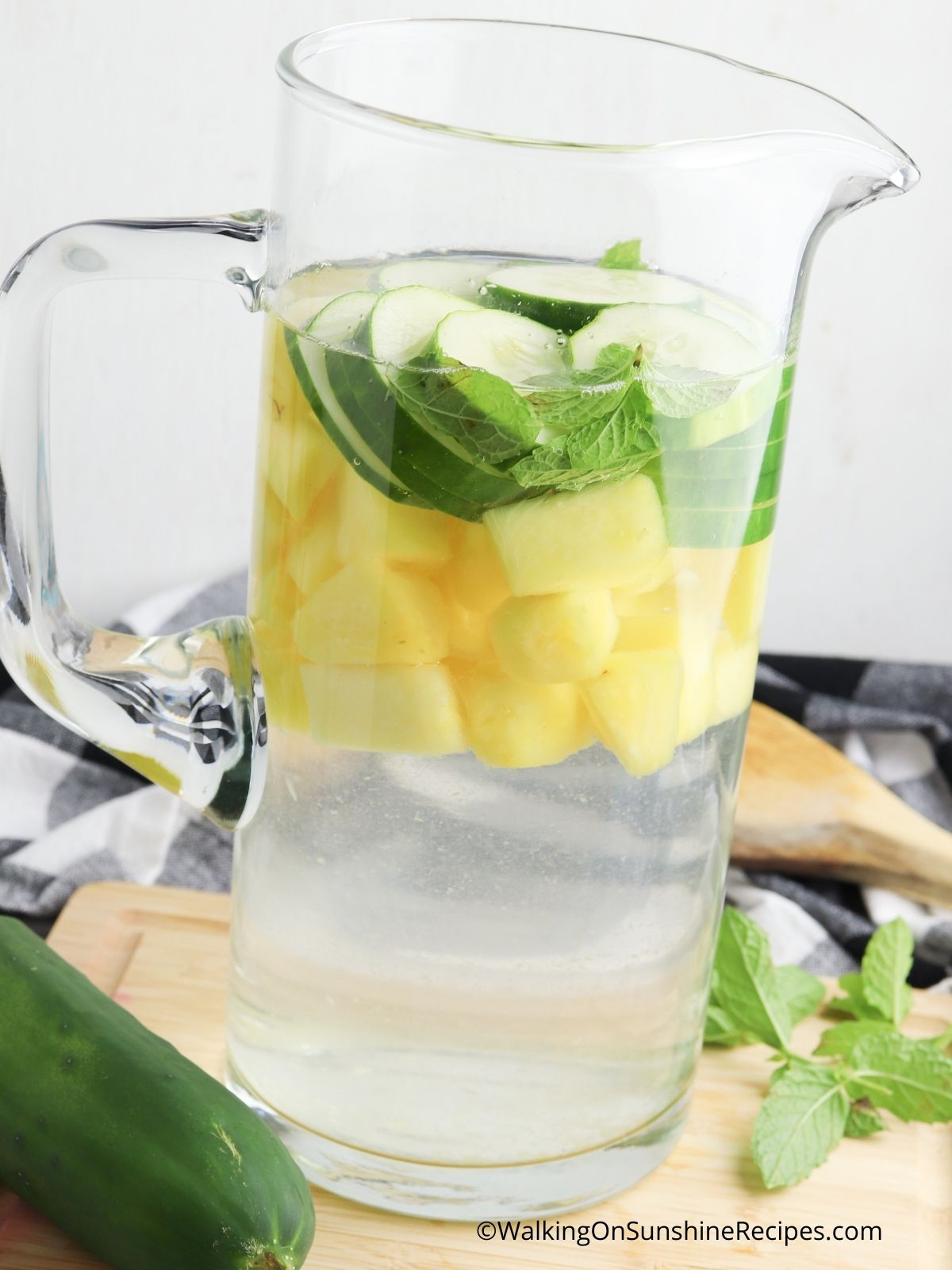 Add water to pitcher.