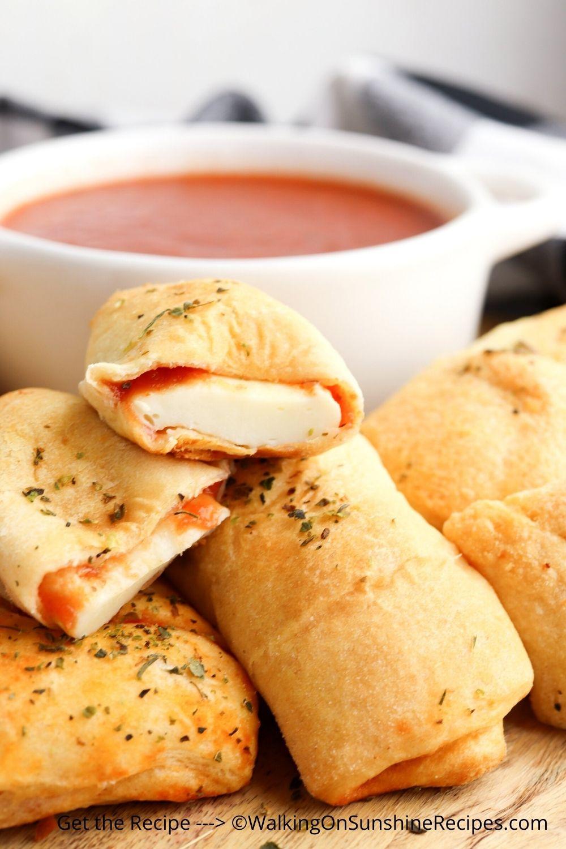 Crescent Rolls with Mozzarella Cheese.
