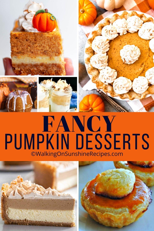 Fancy Pumpkin Desserts Pin Template.