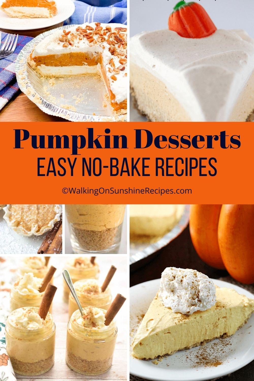 No bake pumpkin cheesecake recipe.