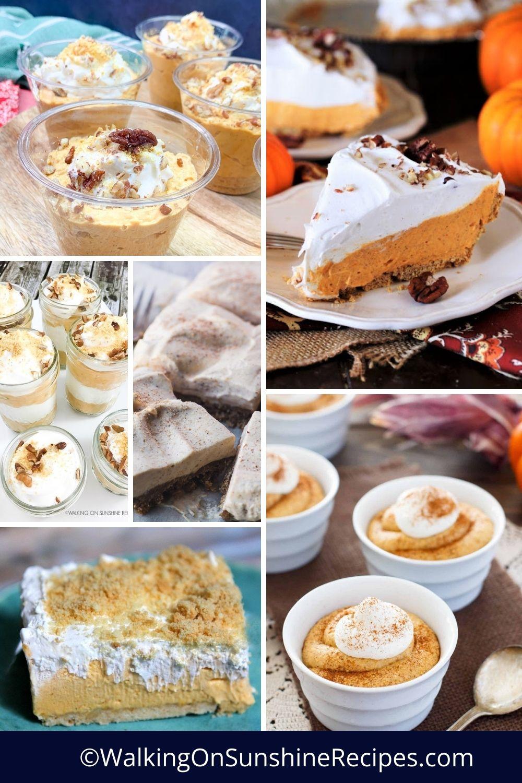 no-bake pumpkin desserts.