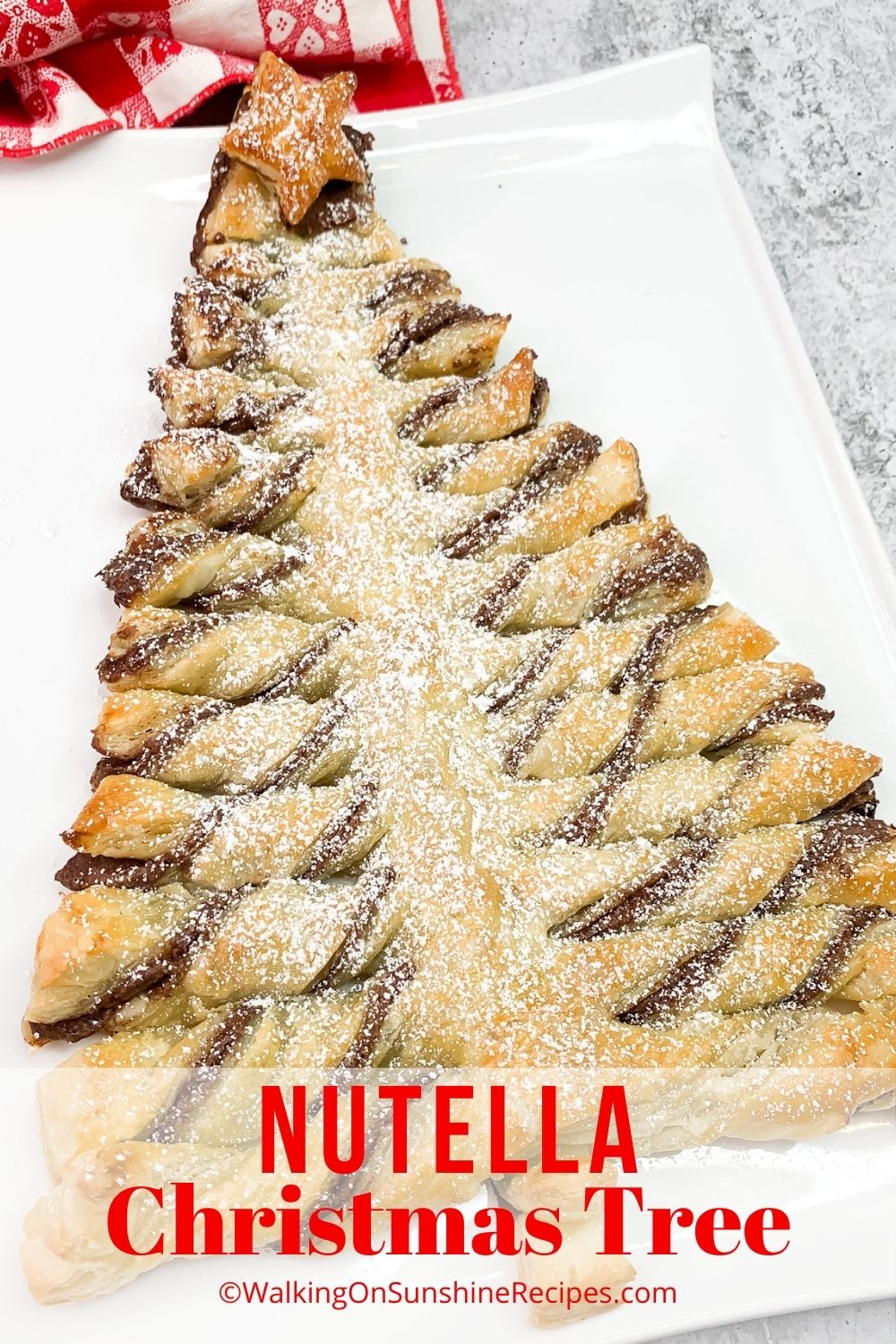 nutella puff pastry christmas tree.