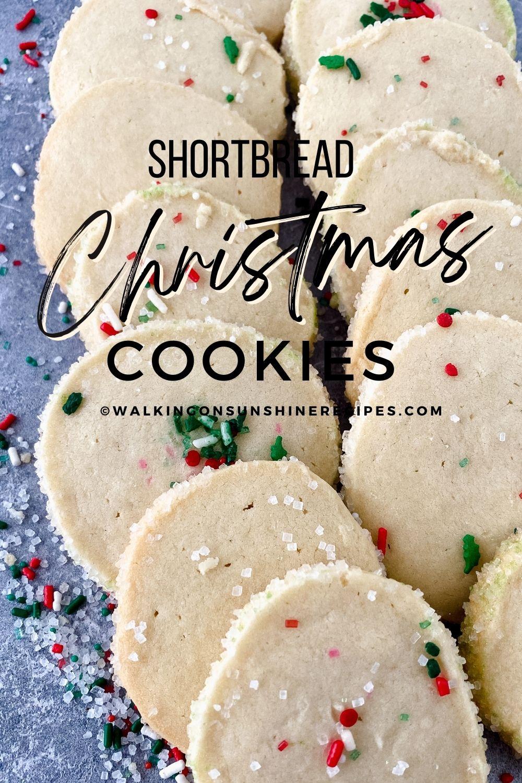 Shortbread Christmas cookies.