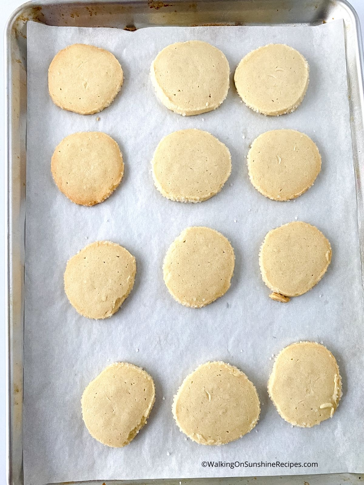 shortbread cookies baked.